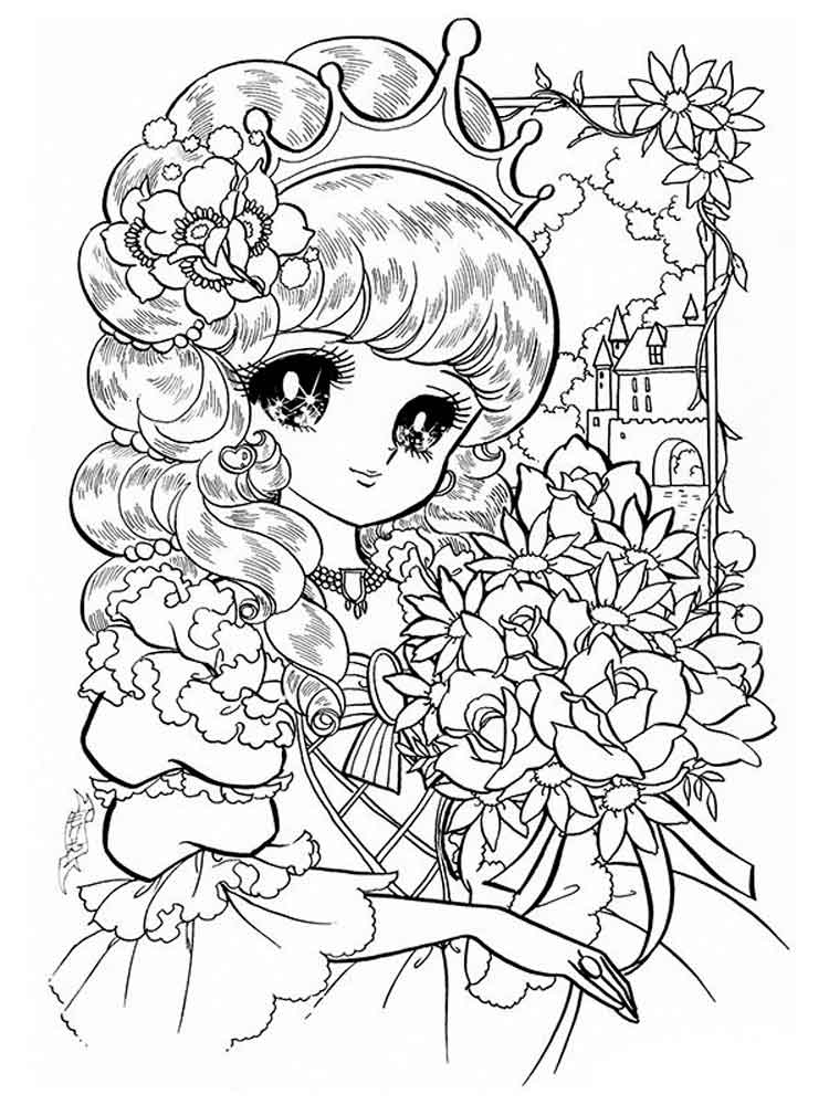 Manga coloring pages Free Printable