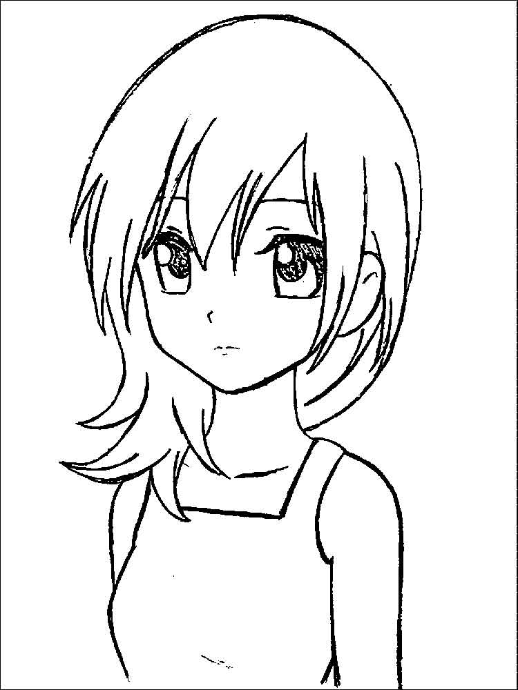 Manga coloring pages. Free Printable Manga coloring pages.