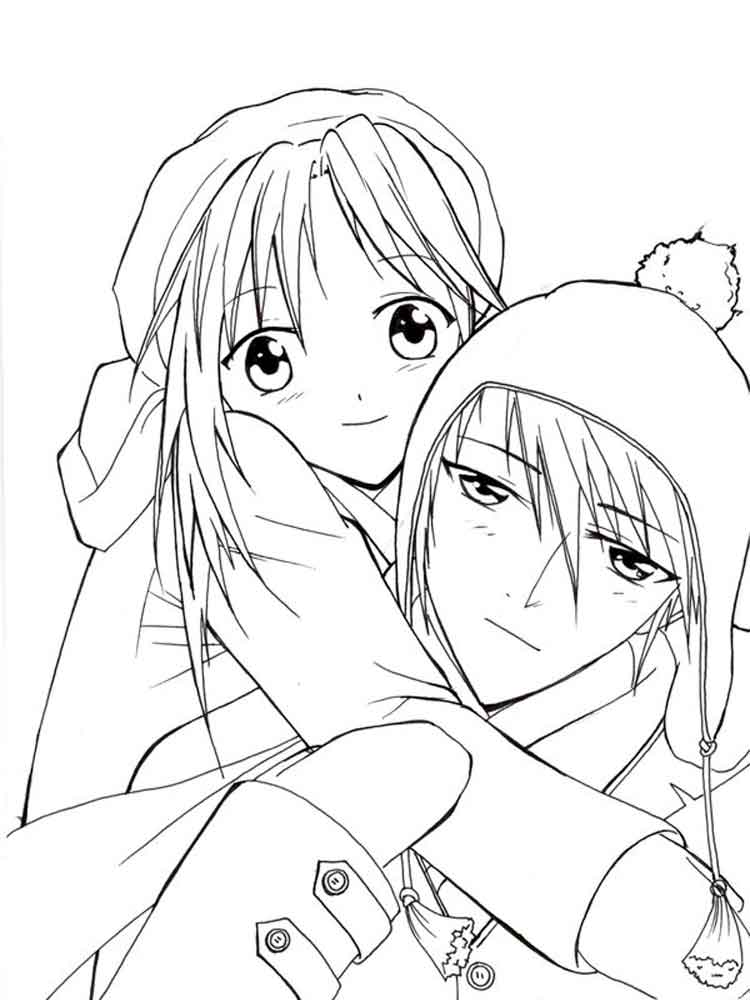 Manga coloring pages Free Printable