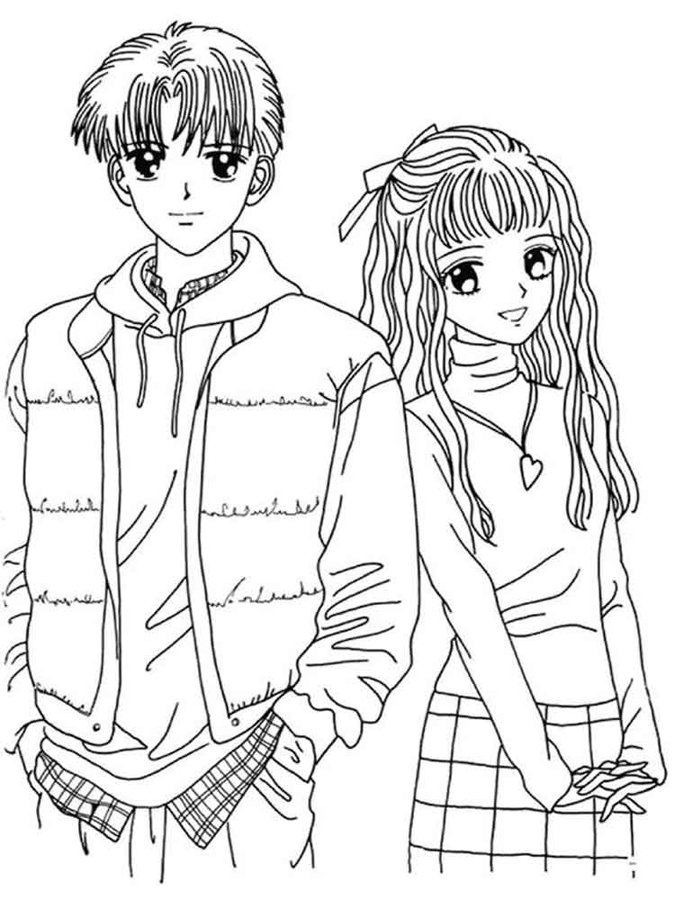 Manga Coloring Pages Free Printable Manga Coloring Pages