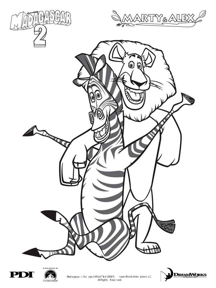 Marty Zebra Coloring Pages Free Printable Marty Zebra