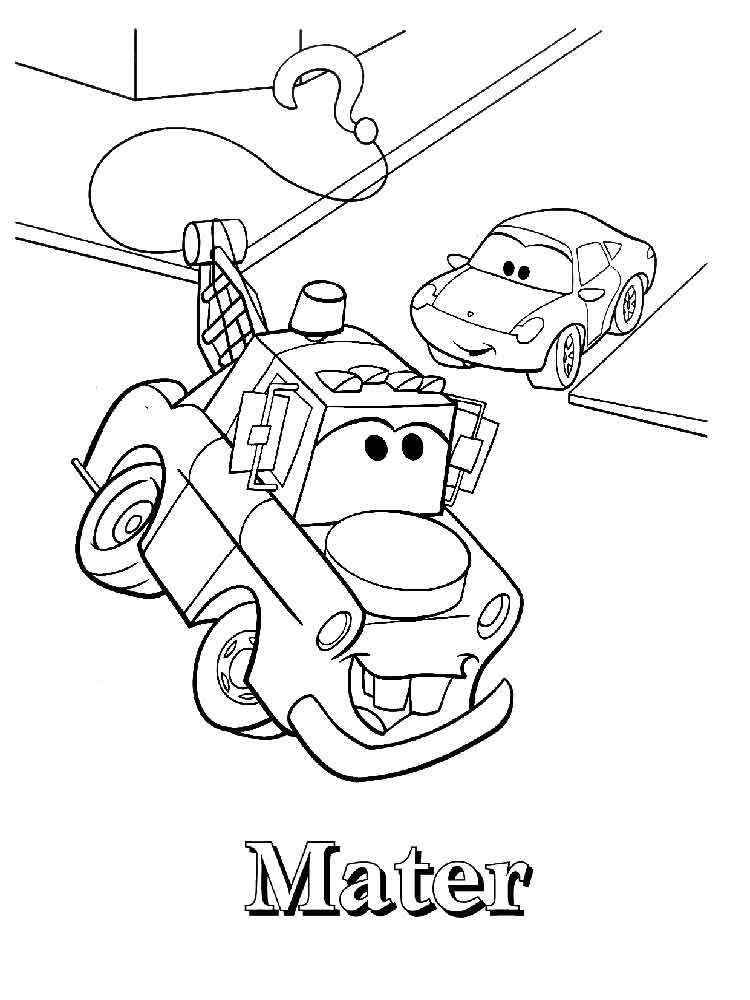 free printable mater coloring pages - photo#24