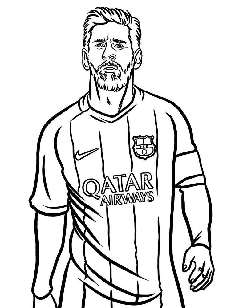 Messi coloring pages. Download and print Messi coloring pages