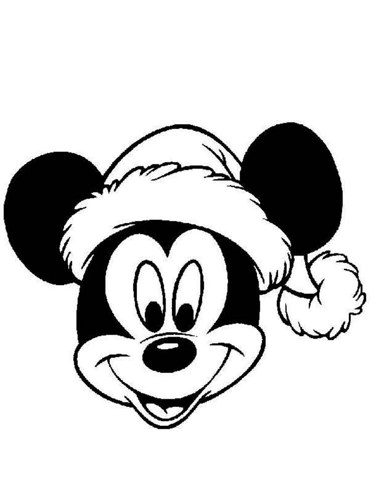 Mickey Mouse Christmas coloring pages. Free Printable Mickey Mouse ...