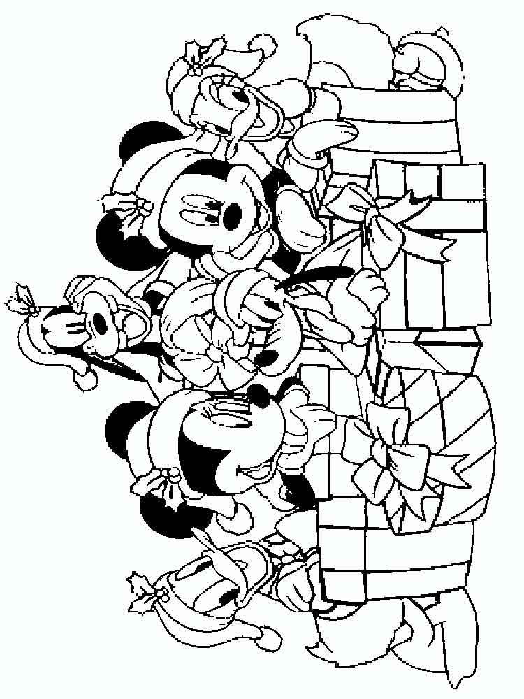Coloring Pages Mickey Mouse Christmas : Mickey mouse christmas coloring pages free printable
