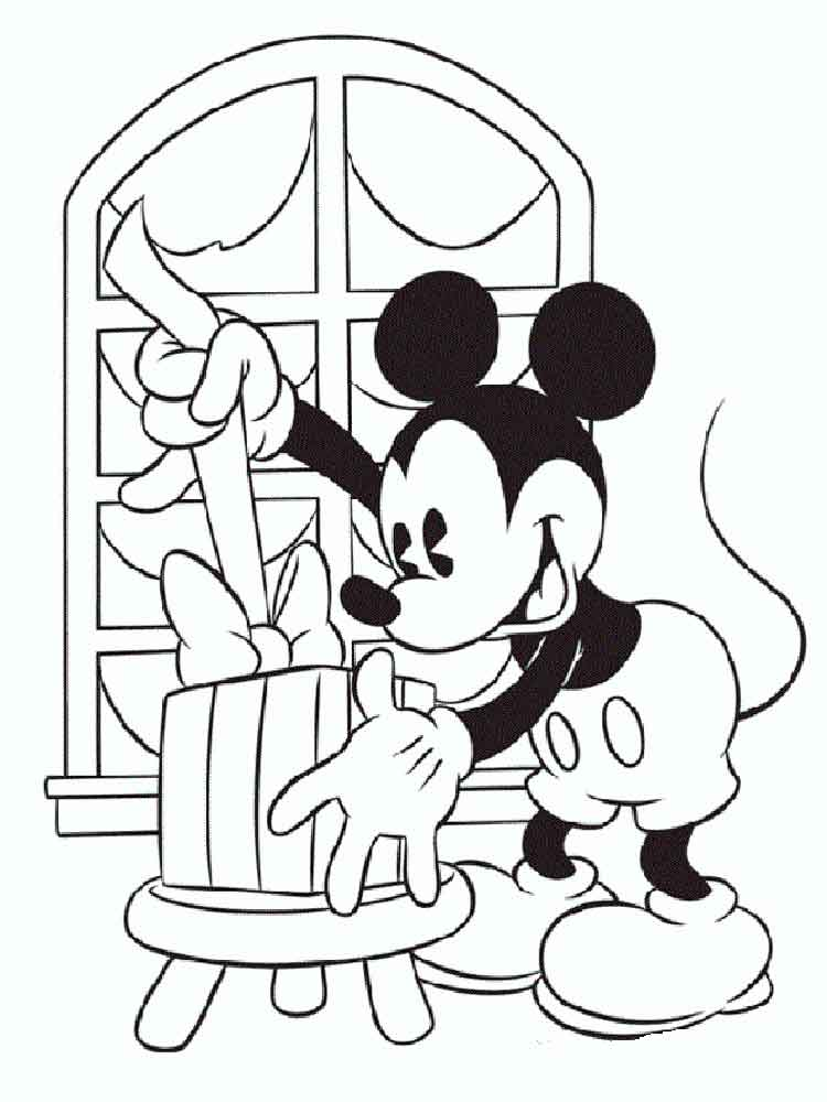 Mickey Mouse Christmas coloring pages. Free Printable ...