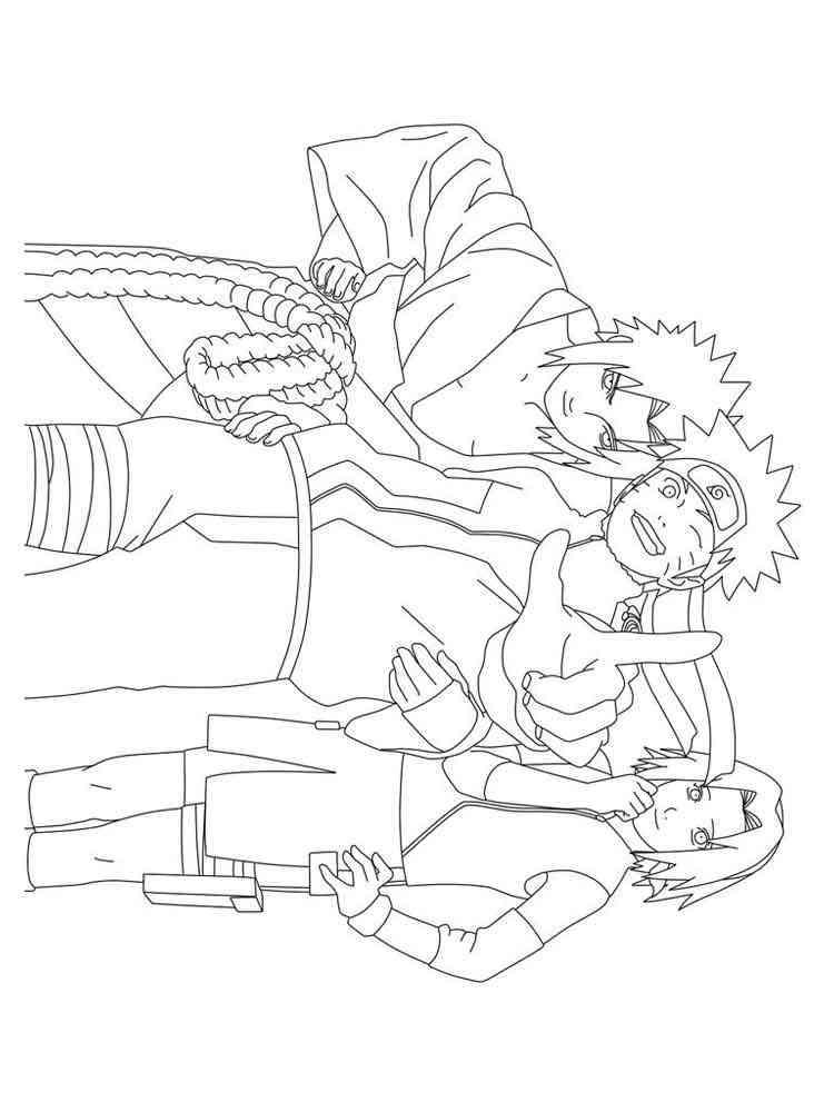 Naruto Shippuden Coloring Pages Free Printable Naruto