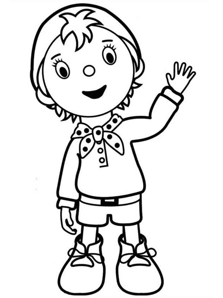 noddy coloring pages - photo#17