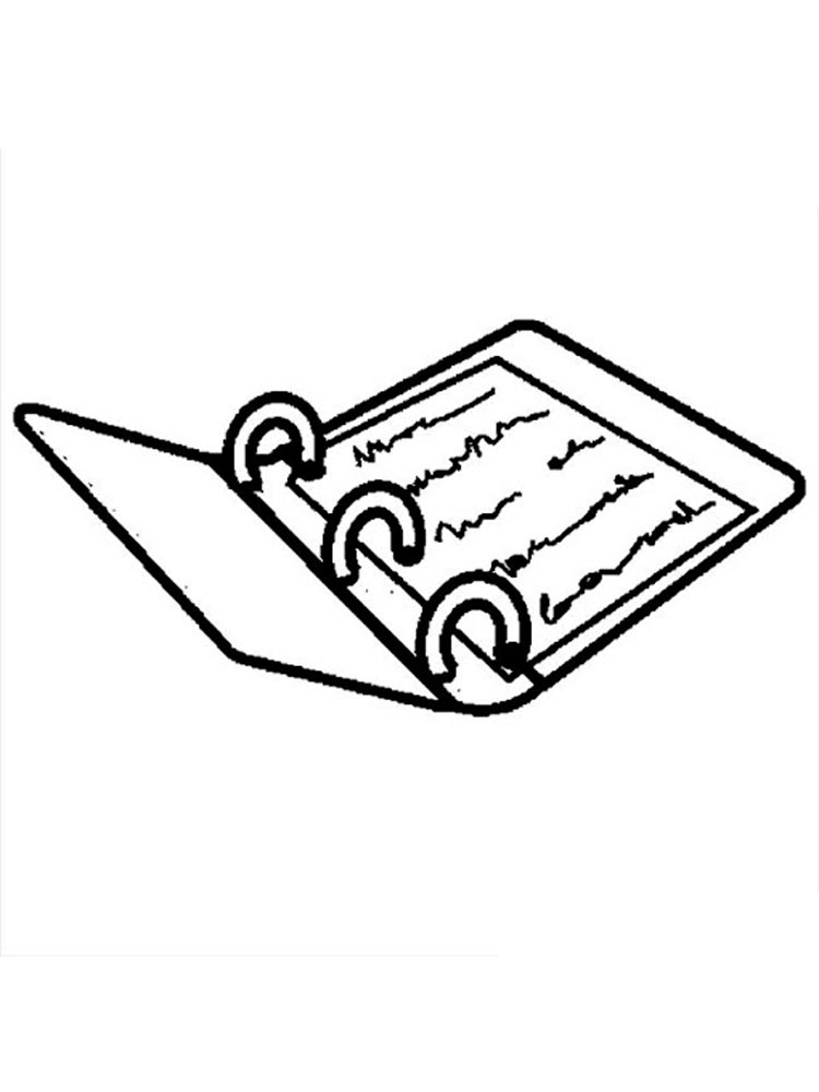 Notebook coloring pages. Download and print Notebook ...