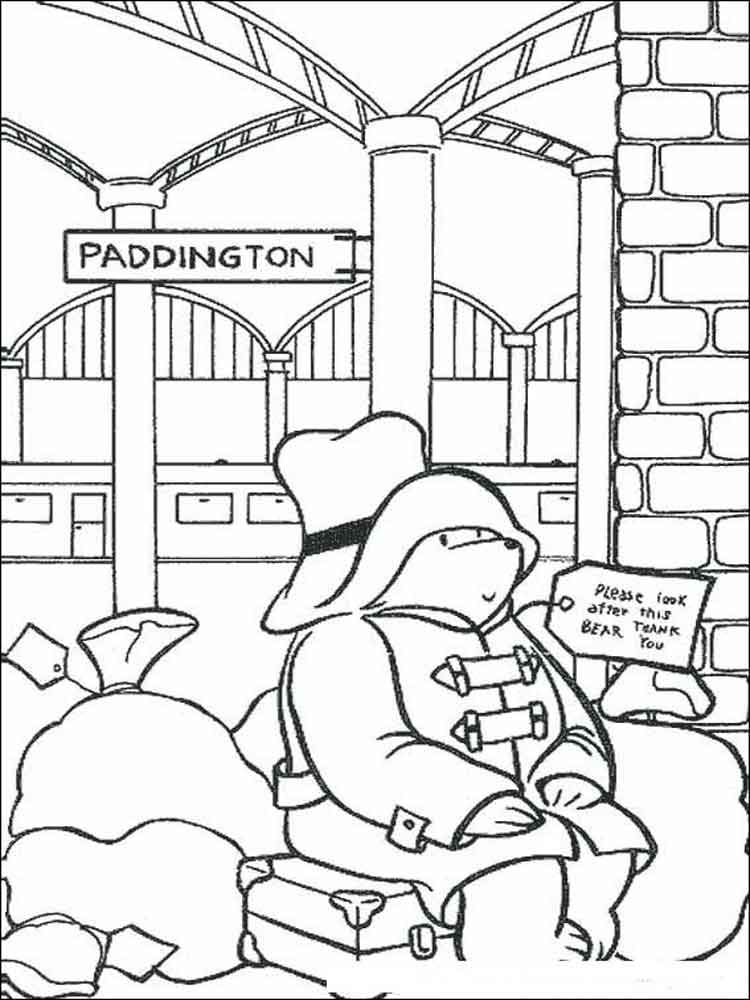 Paddington Bear Coloring Pages Free Printable Paddington