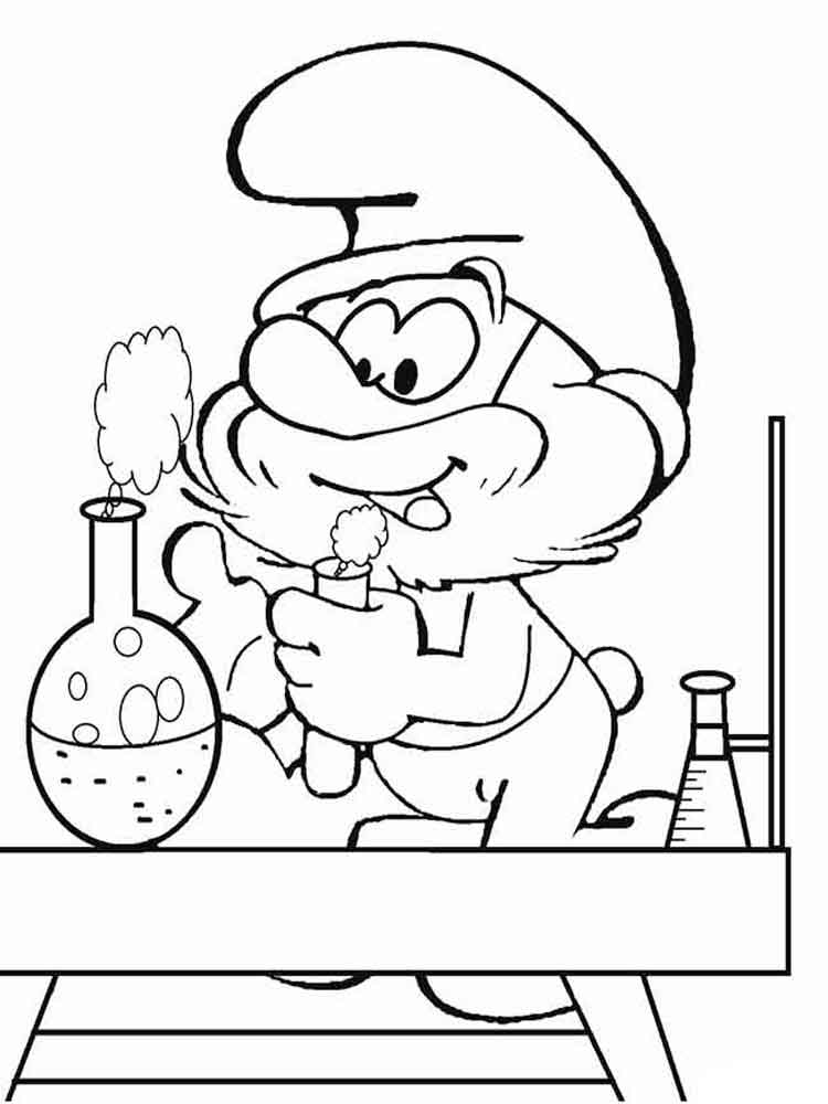 Papa Smurf coloring pages. Free Printable Papa Smurf coloring pages.