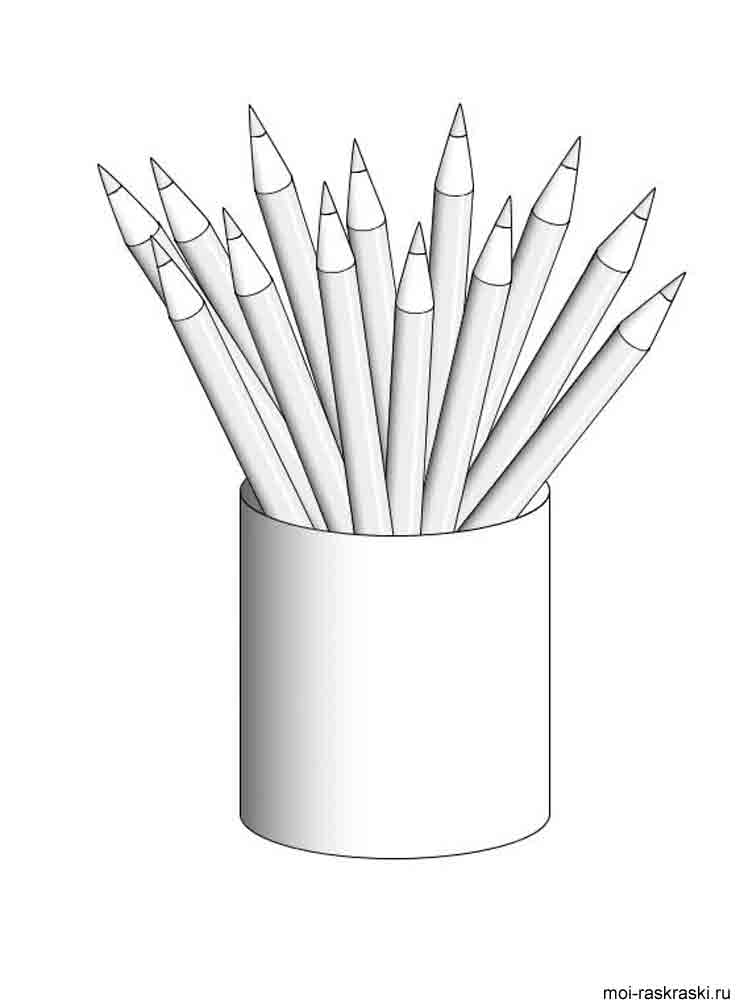 Pencil Coloring Pages. Download And Print Pencil Coloring Pages.