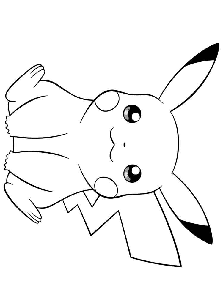 Pikachu coloring pages free printable pikachu coloring pages for Pikachu color page