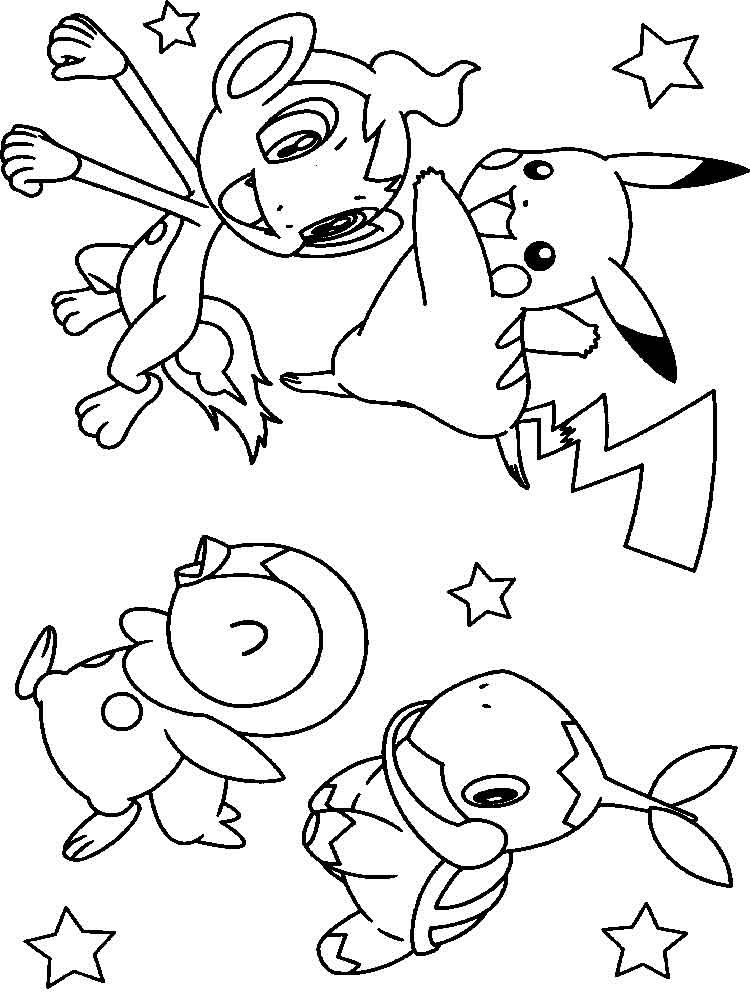 Pikachu coloring pages Free Printable