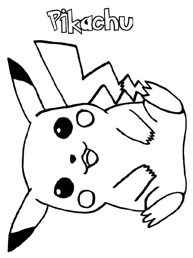 Pikachu Coloring Pages Free Printable Pikachu Coloring Pages