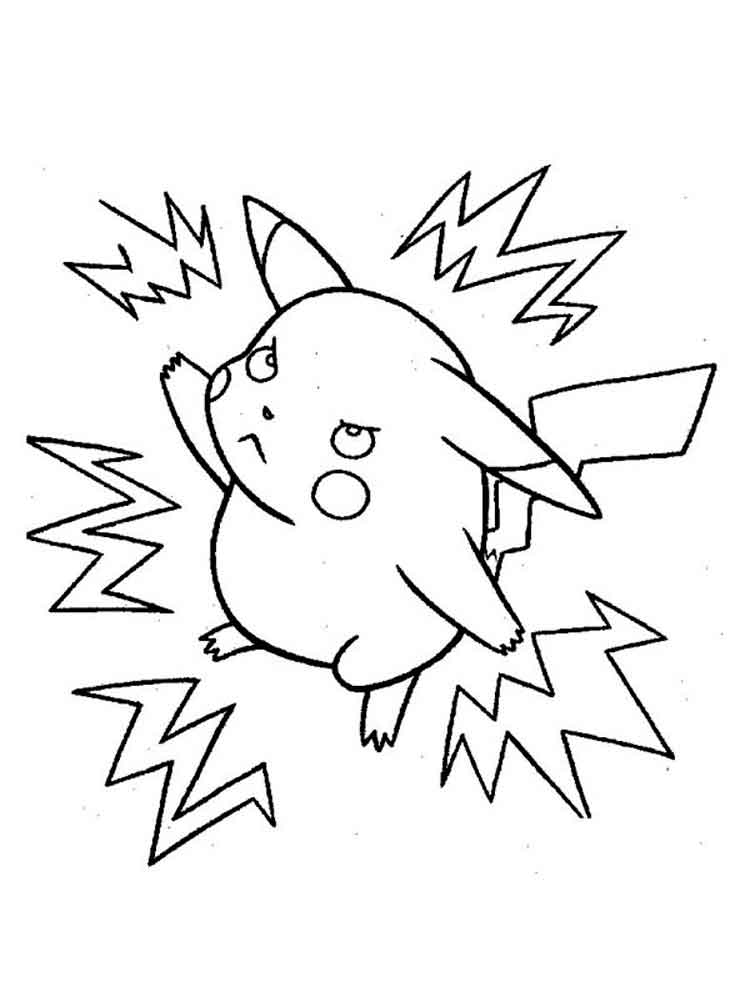 Pikachu Coloring Pages on pokemon charizard coloring pages images