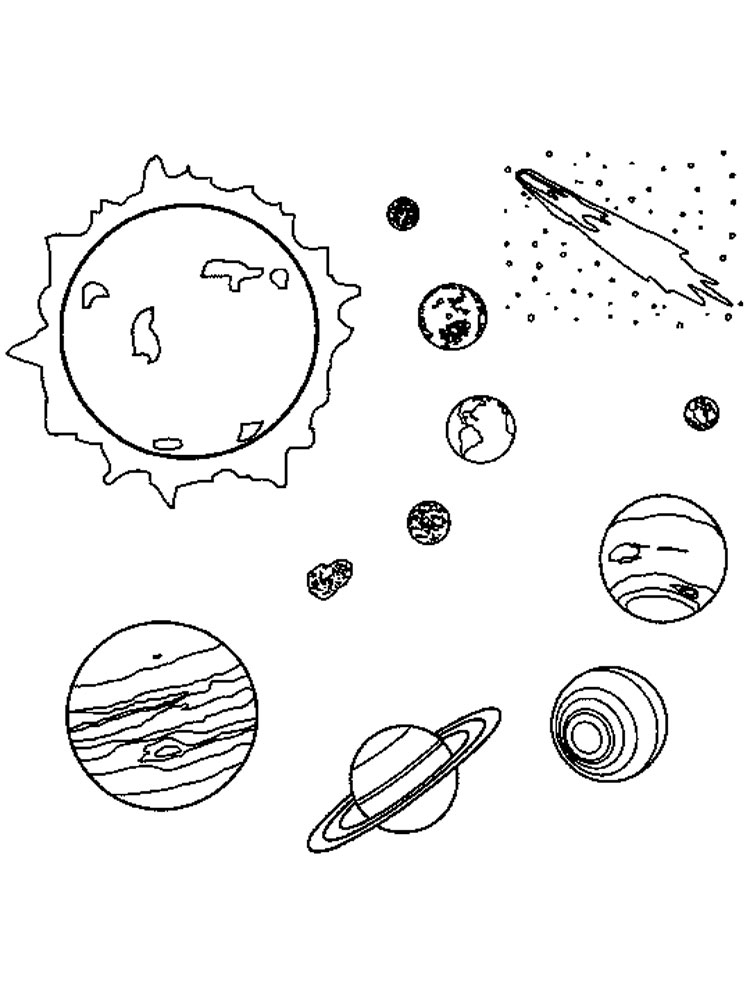 Planets coloring pages. Free Printable Planets coloring pages.