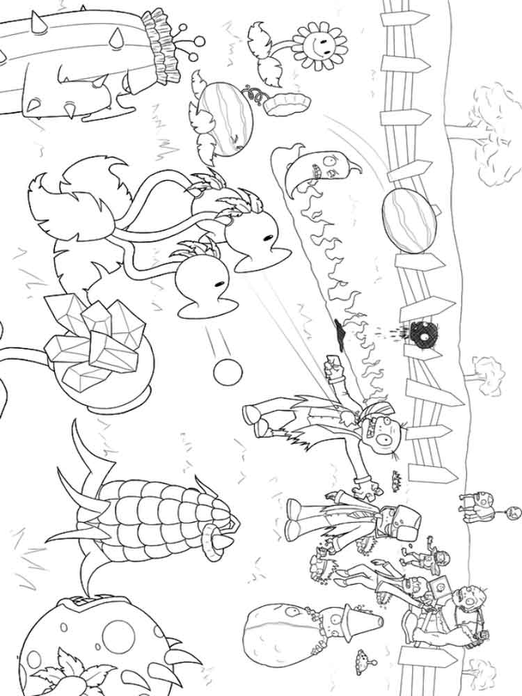 Plants vs Zombies coloring pages Free Printable Plants
