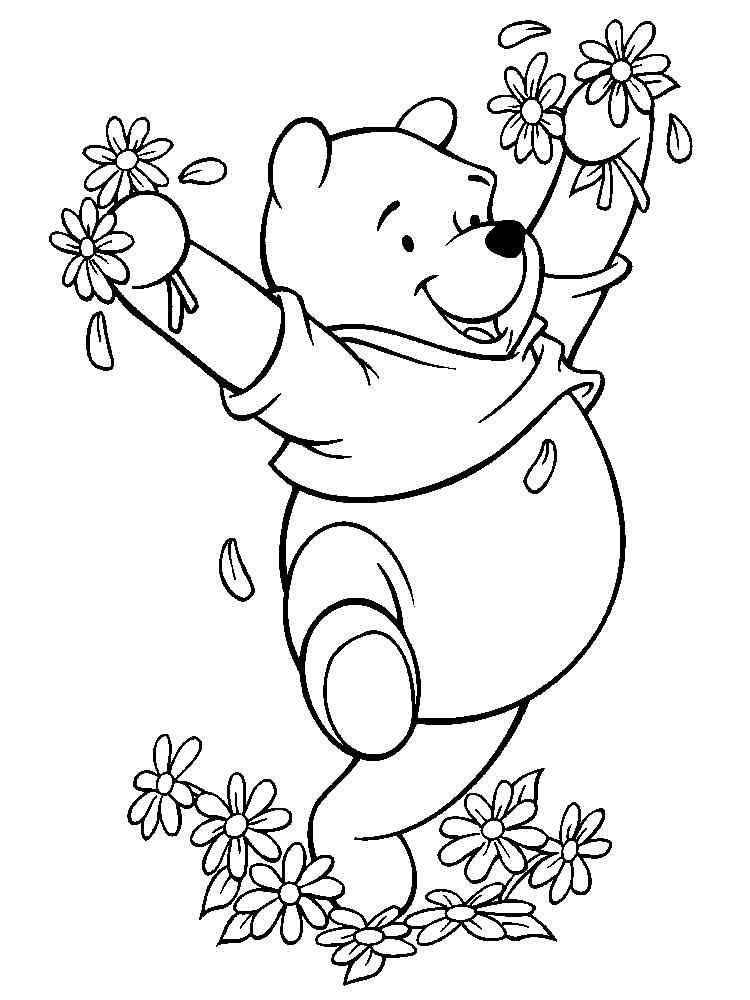 Pooh Bear coloring pages Free