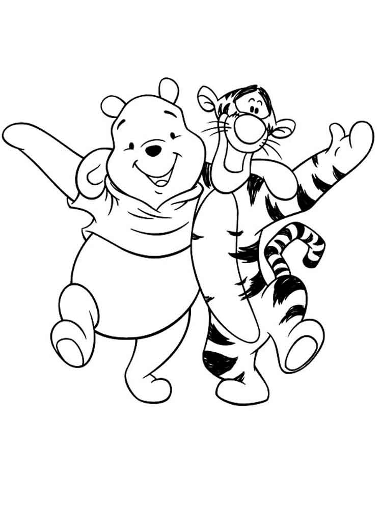 Pooh bear coloring pages free printable pooh bear for Free pooh bear coloring pages