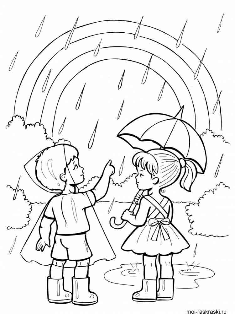 Rainbow coloring pages Download and print Rainbow