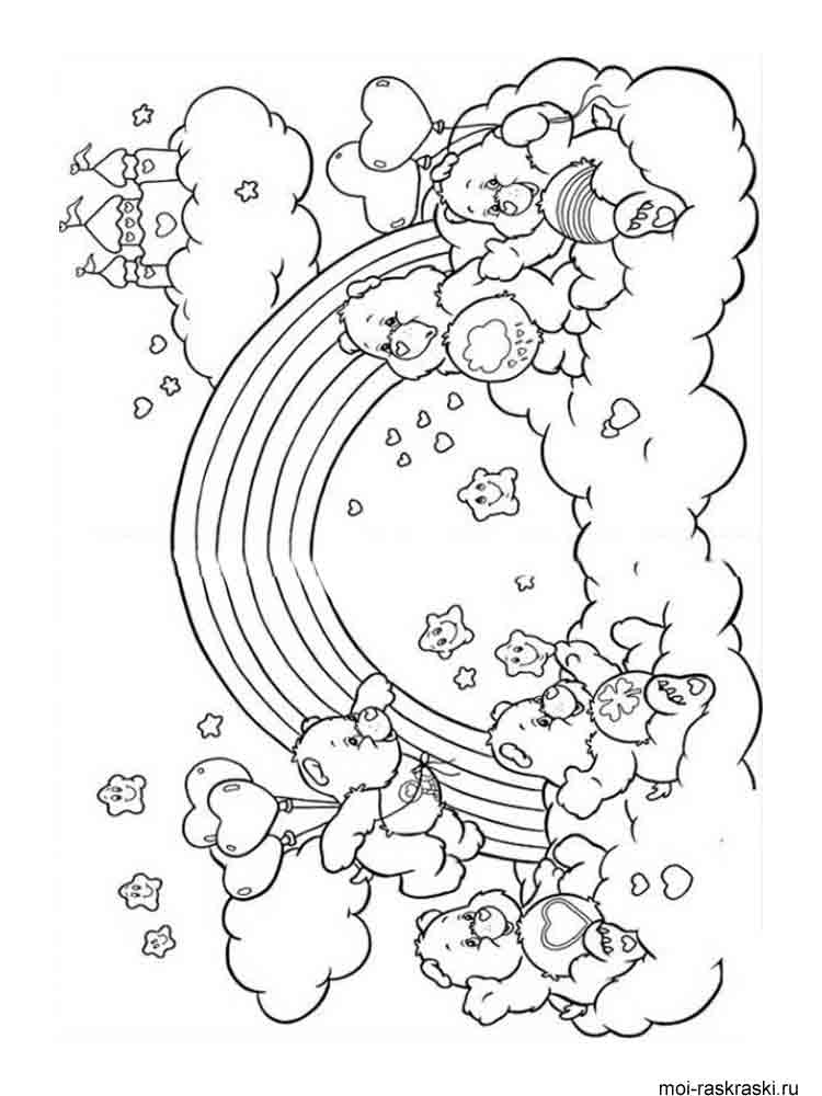 Rainbow coloring pages Download
