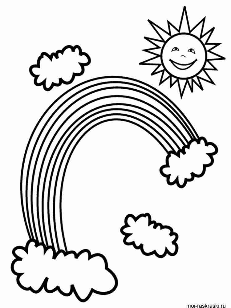 Rainbow coloring pages. Download and print Rainbow ...
