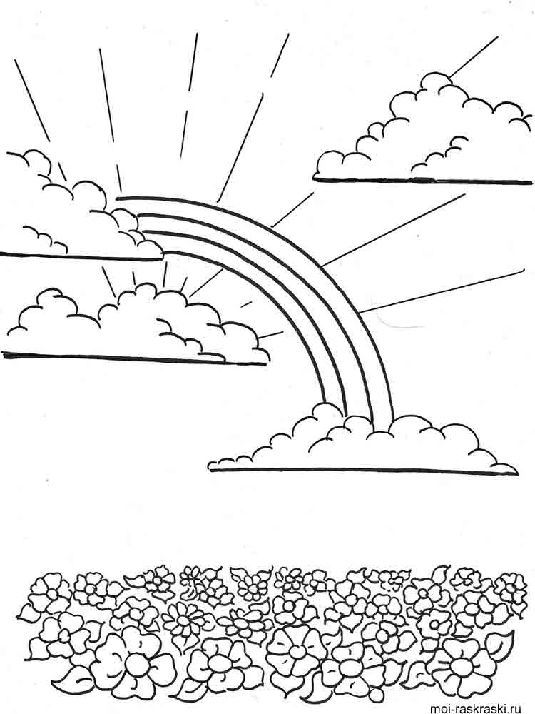 Rainbow Coloring Pages. Download And Print Rainbow