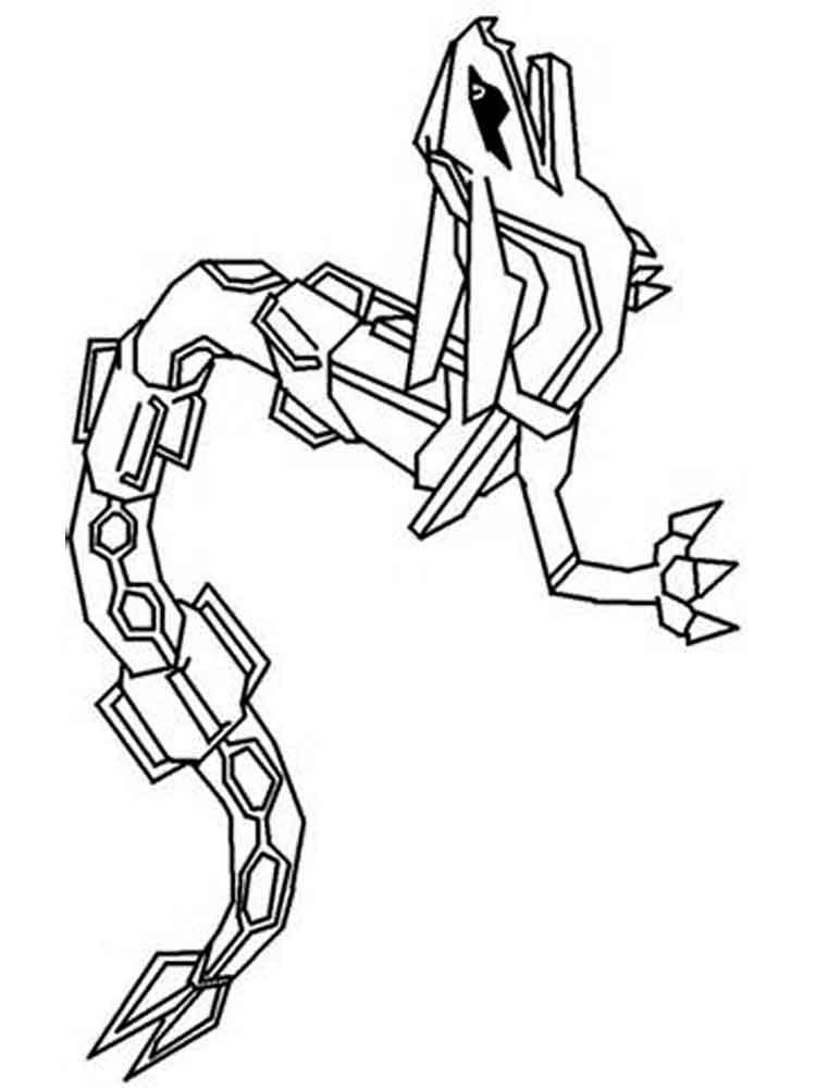 Rayquaza coloring pages Free Printable