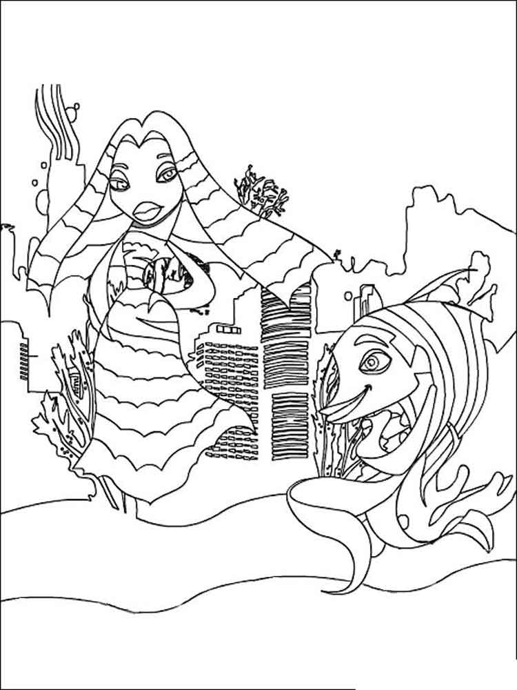 Shark Tale coloring pages Free Printable Shark Tale coloring pages