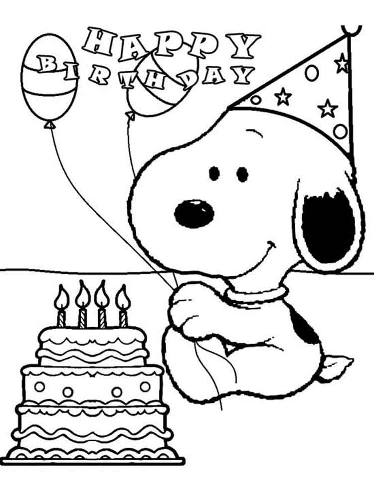 Snoopy Coloring Pages 10