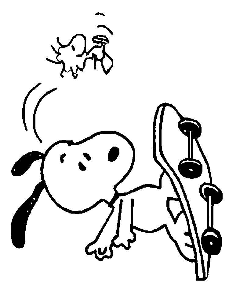 Snoopy coloring pages Free Printable