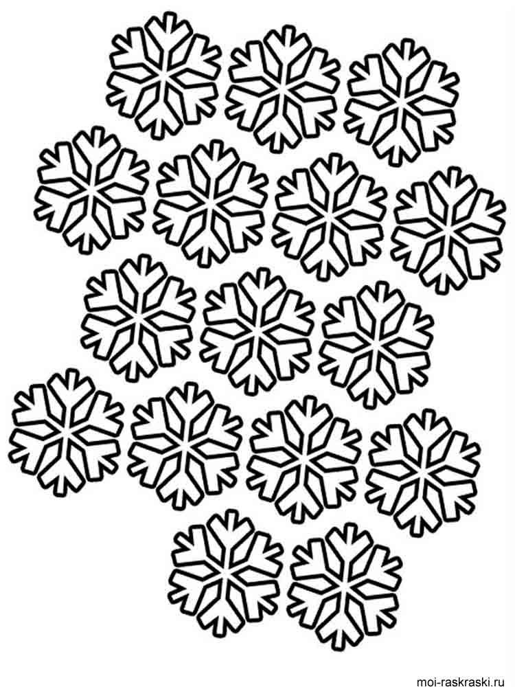 Free printable snowflake coloring pages for Snowflake coloring page
