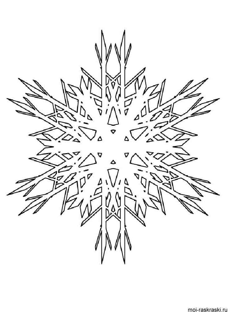 snow flake coloring pages - free printable snowflake coloring pages
