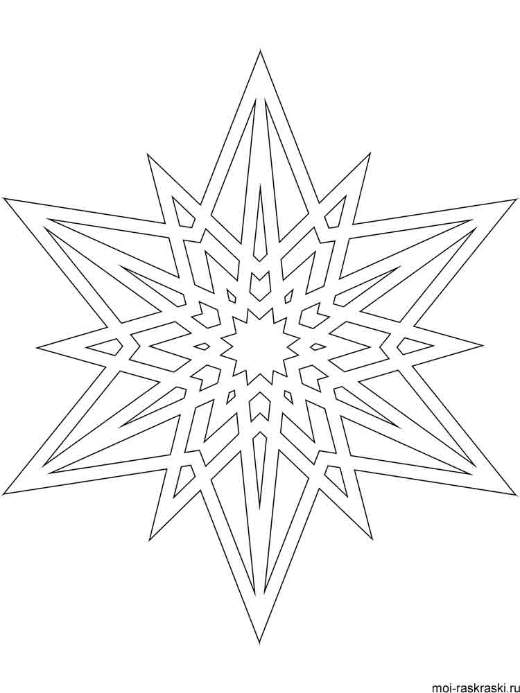 Free printable Snowflake coloring pages.