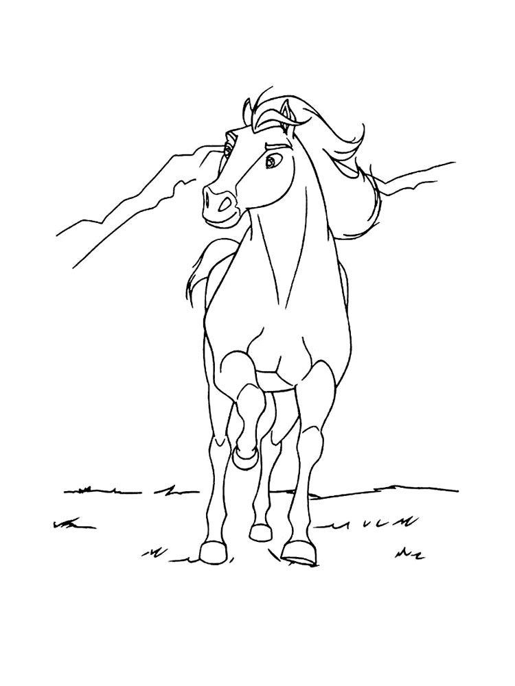 spirit the horse coloring pages - photo#26