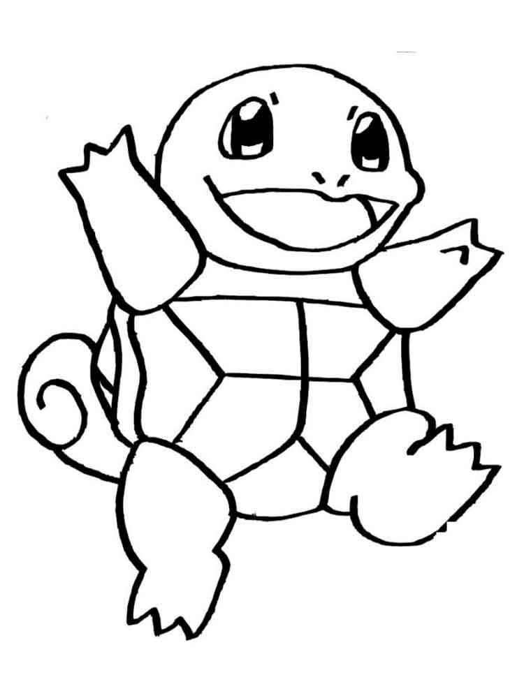 Squirtle Coloring Pages Free Printable Squirtle Coloring