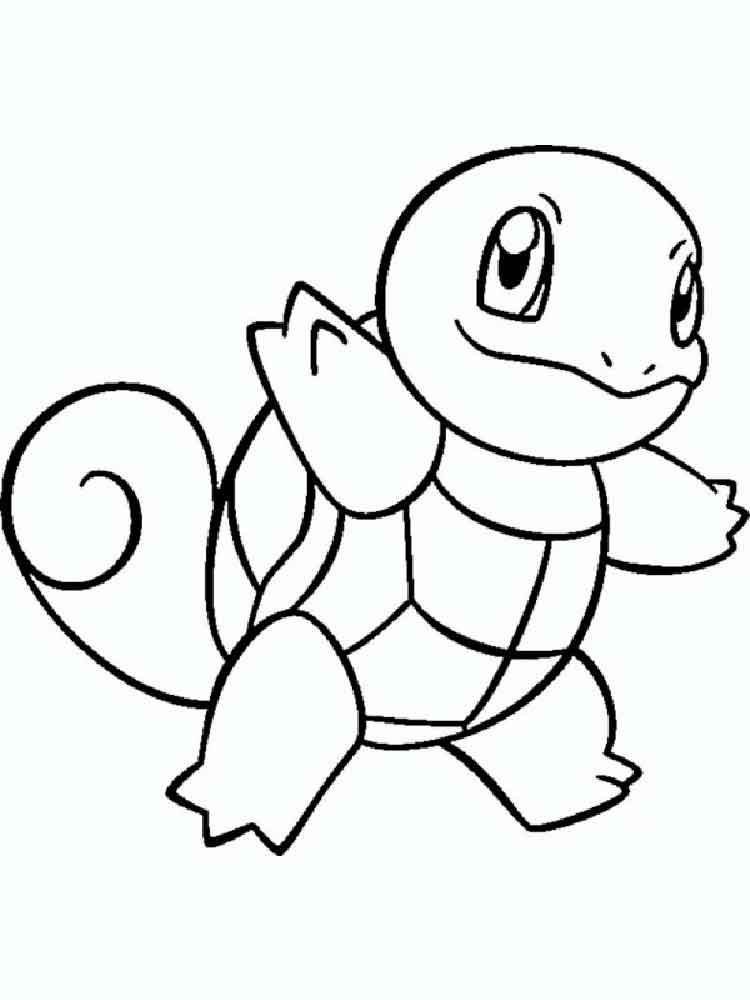 Squirtle Coloring Pages Free Printable Squirtle Coloring Pages