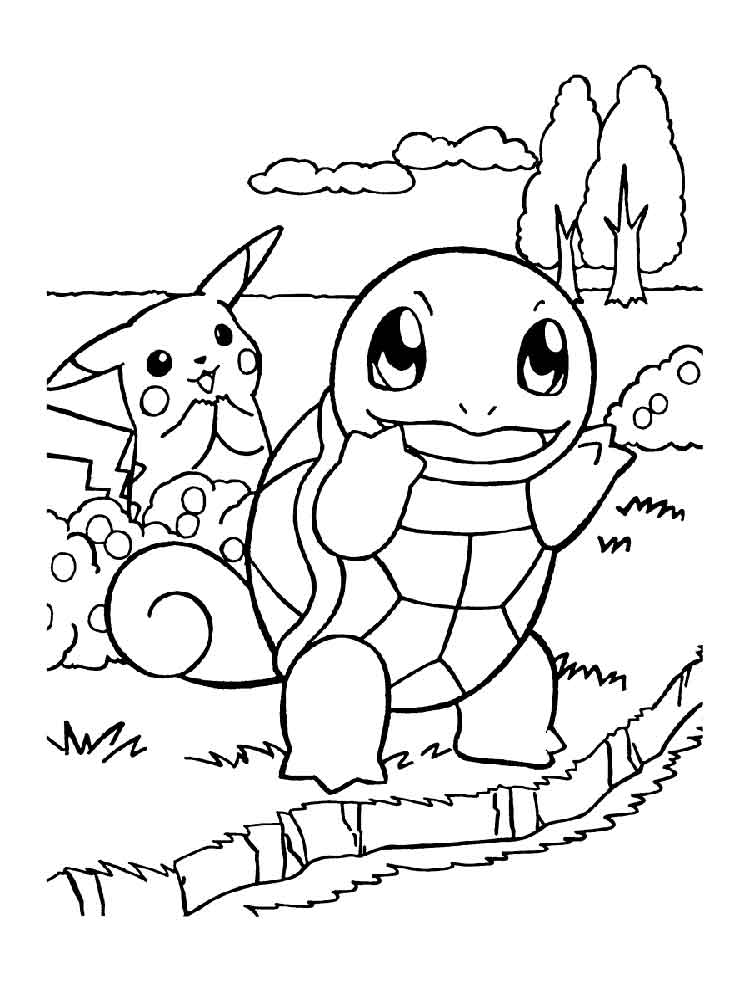 Squirtle coloring pages. Free Printable Squirtle coloring ...