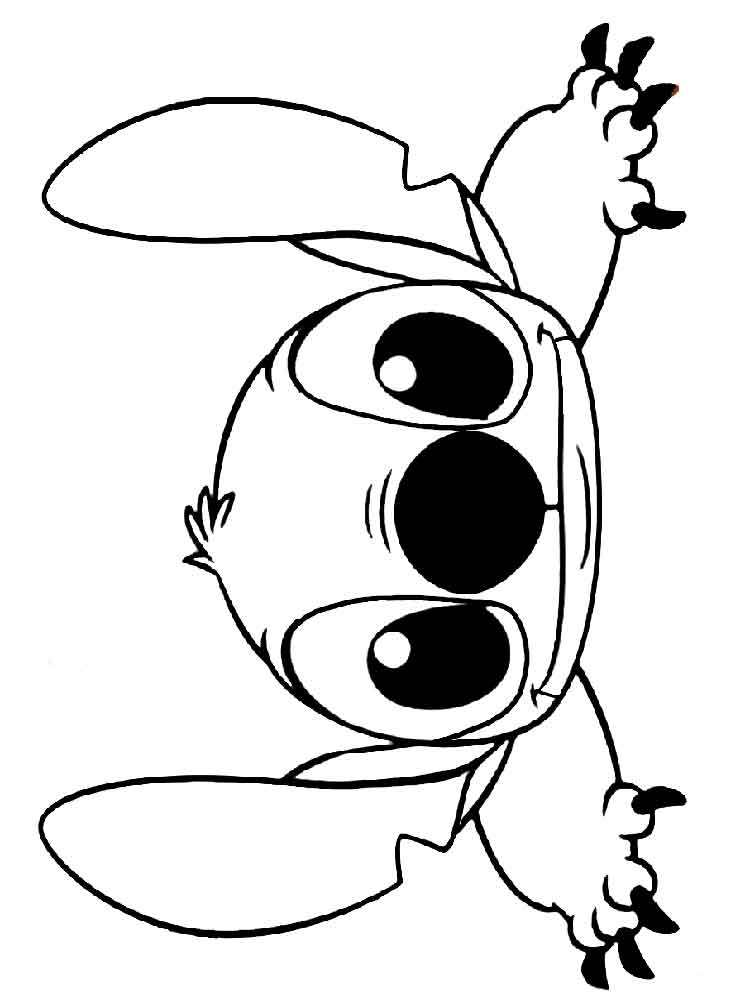 Stitch coloring pages Free Printable