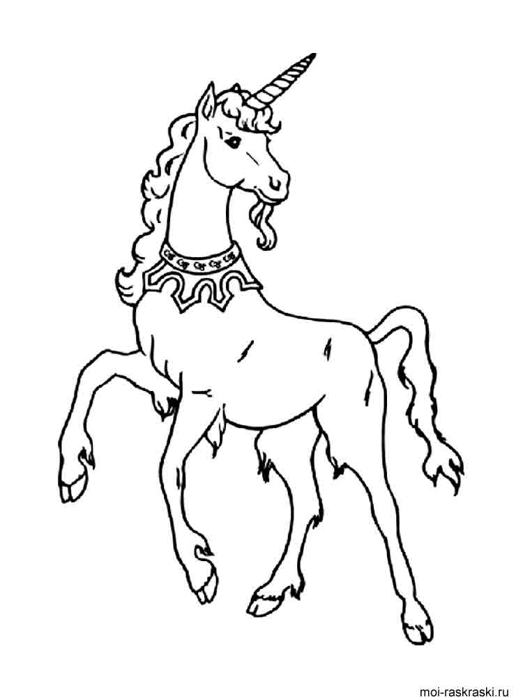 Free printable Unicorn coloring pages.