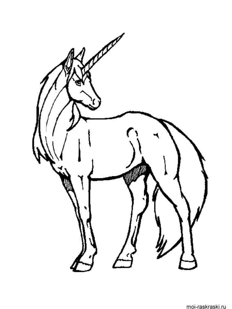 Free printable unicorn coloring pages for Unicorn images coloring pages