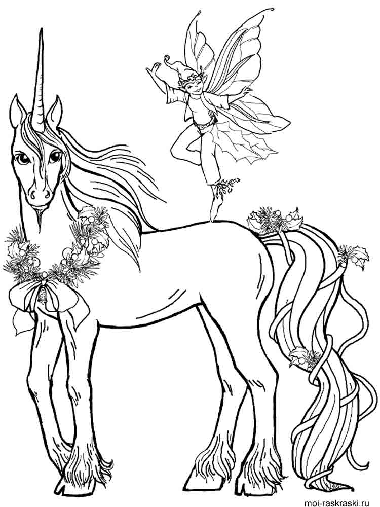 free printable unicorn coloring pages. - Art Nouveau Unicorn Coloring Pages
