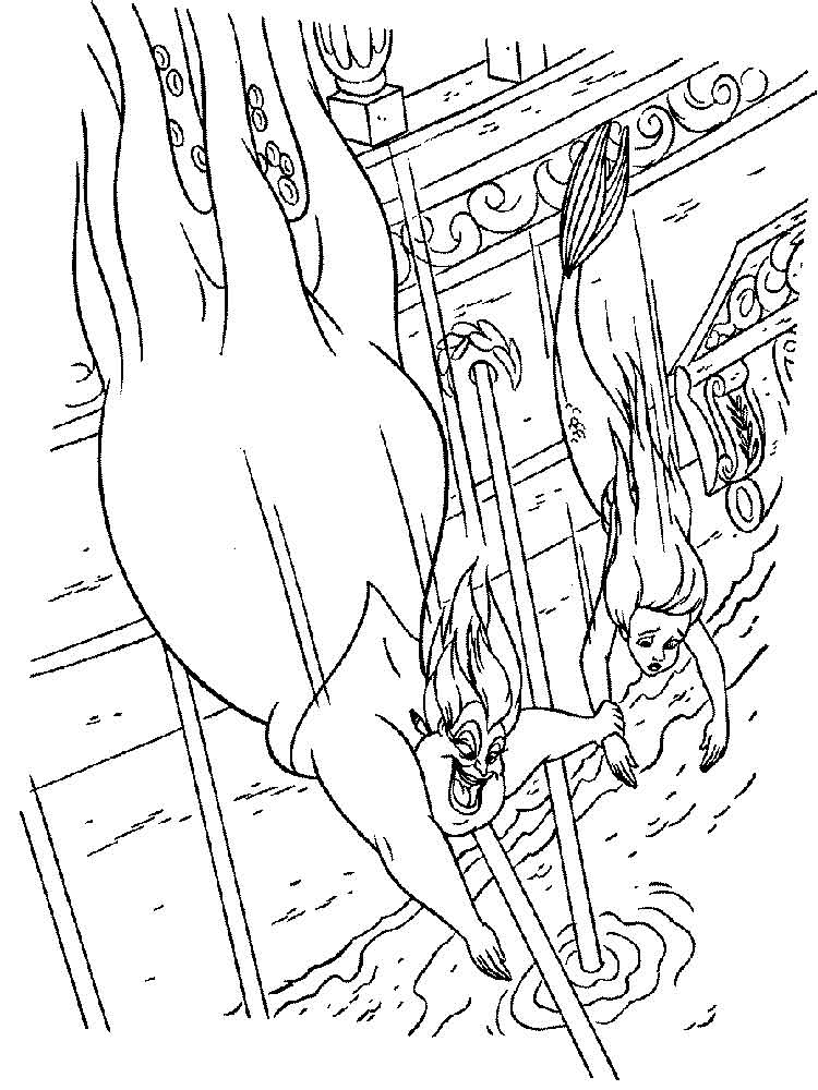 ursula coloring pages 4