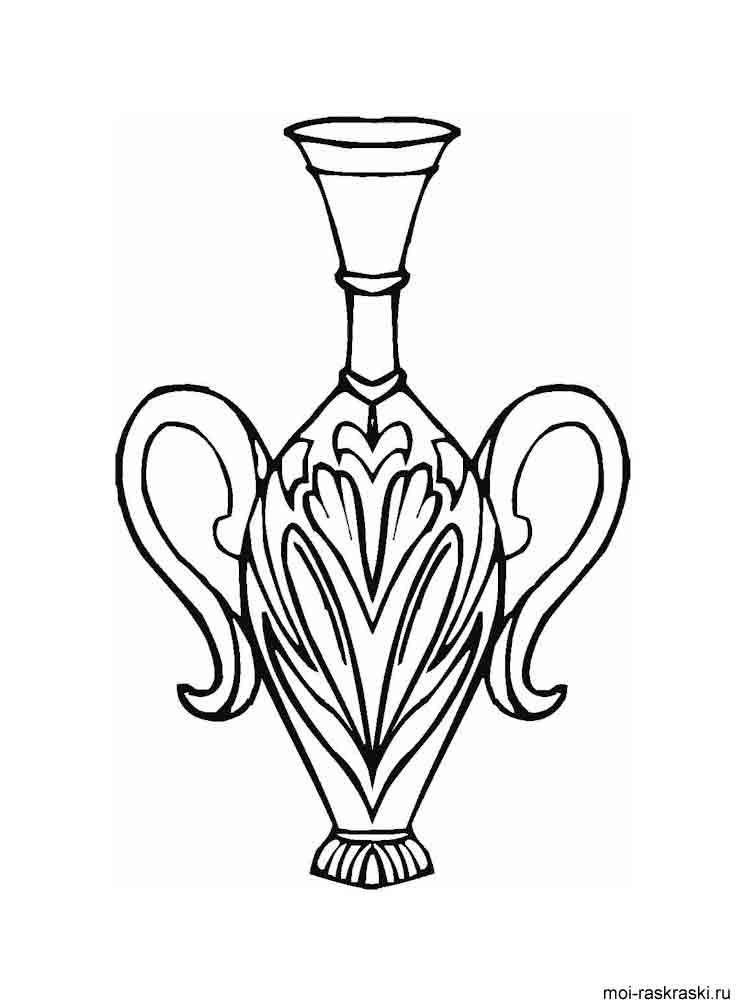 Vase Coloring Pages Download And Print Vase Coloring Pages