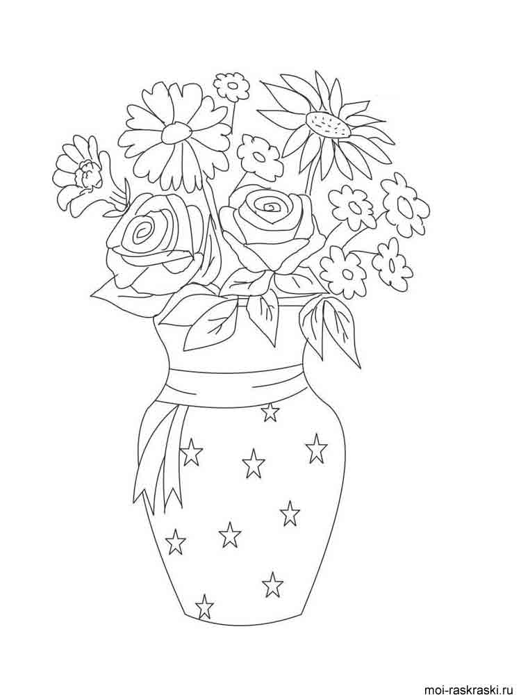 Coloring Pages Vase : Vase coloring pages download and print