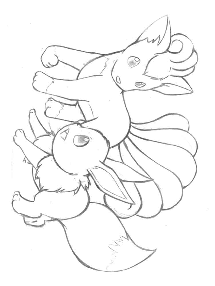 Vulpix coloring pages Free Printable Vulpix coloring pages