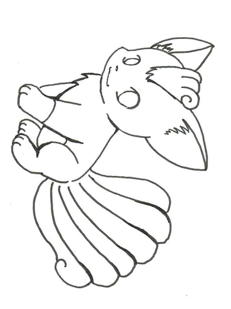 vulpix coloring pages 7 - Buzz Lightyear Face Coloring Pages
