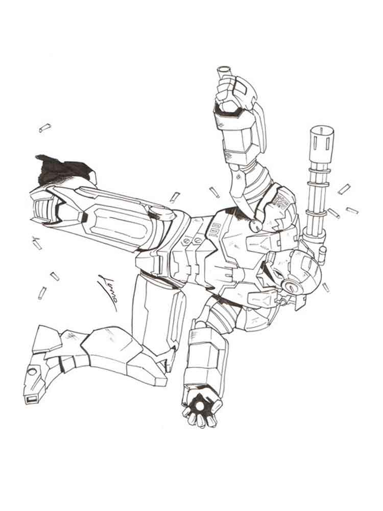 War Machine coloring pages Free