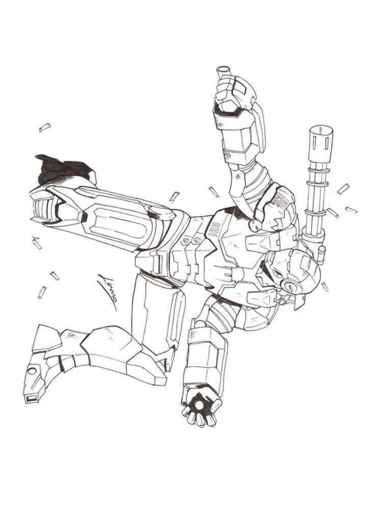 war machine coloring page